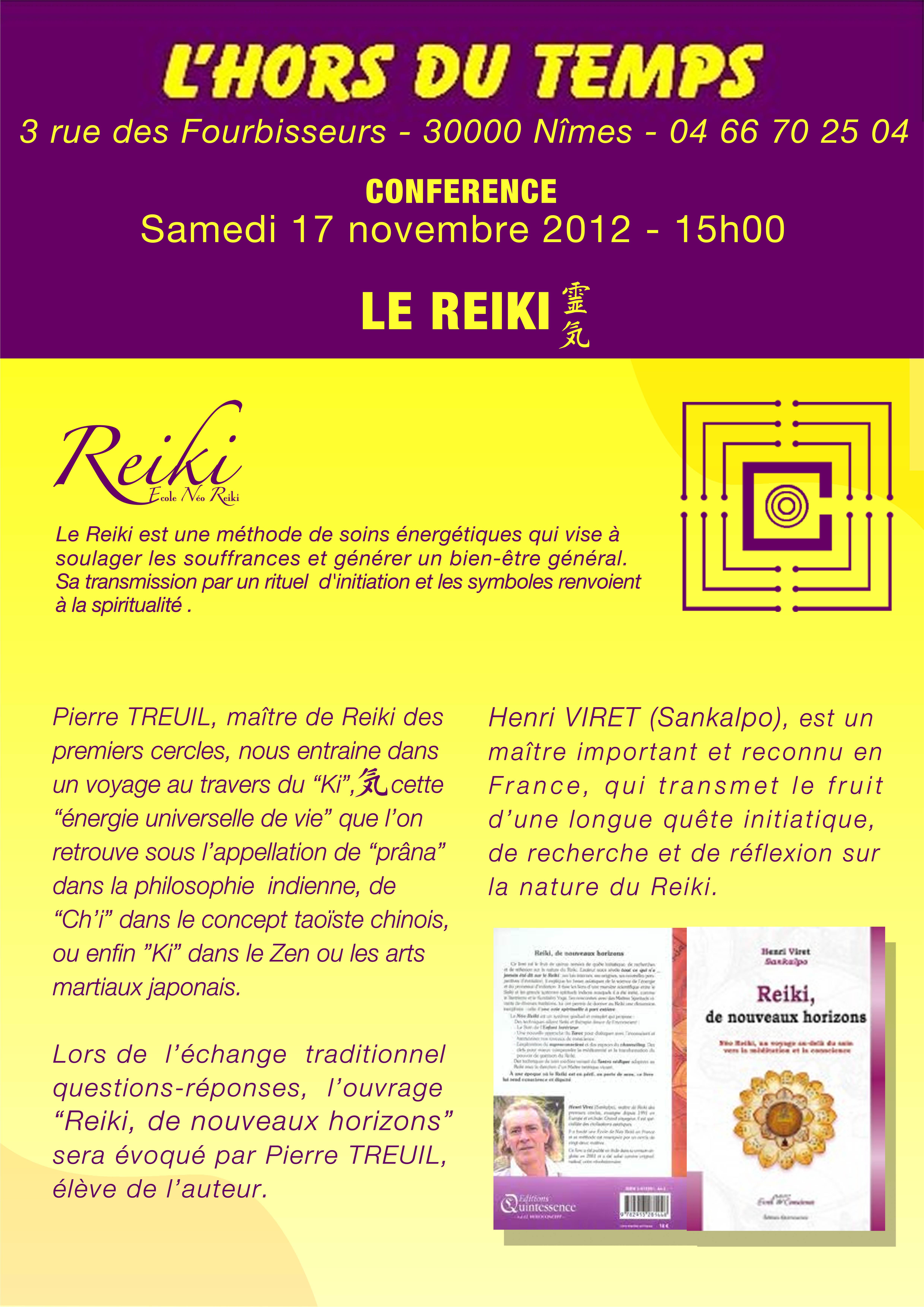 Reiki 2012 conférence LHORS du Temps A4
